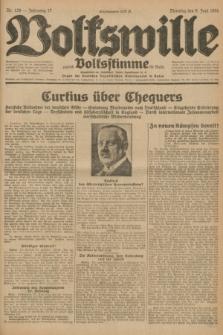 Volkswille : zugleich Volksstimme für Bielitz : Organ der Deutschen Sozialistischen Arbeitspartei in Polen. Jg.17, Nr. 129 (9 Juni 1931) + dod.