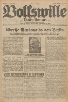 Volkswille : zugleich Volksstimme für Bielitz : Organ der Deutschen Sozialistischen Arbeitspartei in Polen. Jg.17, Nr. 173 (31 Juli 1931) + dod.