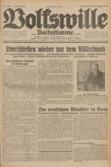 Volkswille : zugleich Volksstimme für Bielitz : Organ der Deutschen Sozialistischen Arbeitspartei in Polen. Jg.17, Nr. 180 (8 August 1931) + dod.