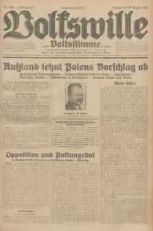 Volkswille : zugleich Volksstimme für Bielitz : Organ der Deutschen Sozialistischen Arbeitspartei in Polen. Jg.17, Nr. 196 (28 August 1931) + dod.