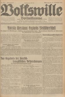Volkswille : zugleich Volksstimme für Bielitz : Organ der Deutschen Sozialistischen Arbeitspartei in Polen. Jg.17, Nr. 224 (30 September 1931) + dod.