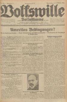 Volkswille : zugleich Volksstimme für Bielitz : Organ der Deutschen Sozialistischen Arbeitspartei in Polen. Jg.17, Nr. 231 (8 Oktober 1931) + dod.