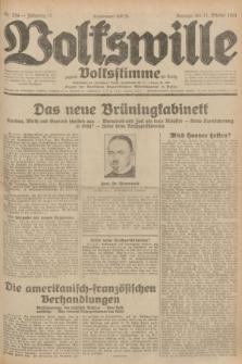 Volkswille : zugleich Volksstimme für Bielitz : Organ der Deutschen Sozialistischen Arbeitspartei in Polen. Jg.17, Nr. 234 (11 October 1931) + dod.