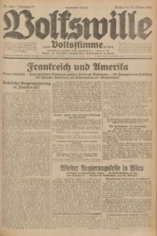 Volkswille : zugleich Volksstimme für Bielitz : Organ der Deutschen Sozialistischen Arbeitspartei in Polen. Jg.17, Nr. 244 (23 October 1931) + dod.