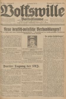 Volkswille : zugleich Volksstimme für Bielitz : Organ der Deutschen Sozialistischen Arbeitspartei in Polen. Jg.17, Nr. 254 (4 November 1931) + dod.