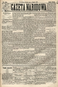 Gazeta Narodowa. 1883, nr174