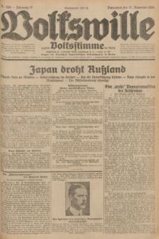 Volkswille : zugleich Volksstimme für Bielitz : Organ der Deutschen Sozialistischen Arbeitspartei in Polen. Jg.17, Nr. 269 (21 November 1931) + dod.
