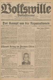 Volkswille : zugleich Volksstimme für Bielitz : Organ der Deutschen Sozialistischen Arbeitspartei in Polen. Jg.17, Nr. 288 (15 Dezember 1931) + dod.