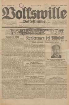 Volkswille : zugleich Volksstimme für Bielitz : Organ der Deutschen Sozialistischen Arbeitspartei in Polen. Jg.18, Nr. 1 (1 Januar 1932) + dod.