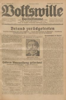 Volkswille : zugleich Volksstimme für Bielitz : Organ der Deutschen Sozialistischen Arbeitspartei in Polen. Jg.18, Nr. 7 (10 Januar 1932) + dod.