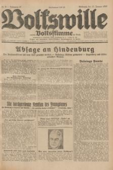 Volkswille : zugleich Volksstimme für Bielitz : Organ der Deutschen Sozialistischen Arbeitspartei in Polen. Jg.18, Nr. 9 (13 Januar 1932) + dod.