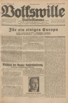 Volkswille : zugleich Volksstimme für Bielitz : Organ der Deutschen Sozialistischen Arbeitspartei in Polen. Jg.18, Nr. 12 (16 Januar 1932) + dod.