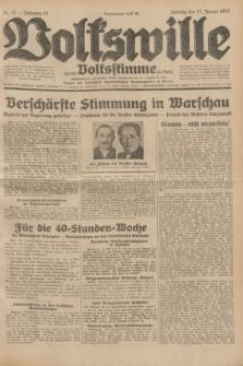 Volkswille : zugleich Volksstimme für Bielitz : Organ der Deutschen Sozialistischen Arbeitspartei in Polen. Jg.18, Nr. 13 (17 Januar 1932) + dod.
