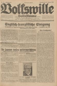 Volkswille : zugleich Volksstimme für Bielitz : Organ der Deutschen Sozialistischen Arbeitspartei in Polen. Jg.18, Nr. 14 (19 Januar 1932) + dod.