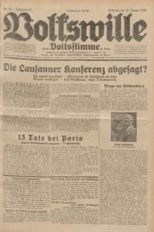 Volkswille : zugleich Volksstimme für Bielitz : Organ der Deutschen Sozialistischen Arbeitspartei in Polen. Jg.18, Nr. 15 (20 Januar 1932) + dod.