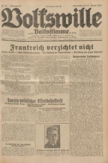 Volkswille : zugleich Volksstimme für Bielitz : Organ der Deutschen Sozialistischen Arbeitspartei in Polen. Jg.18, Nr. 16 (21 Januar 1932) + dod.
