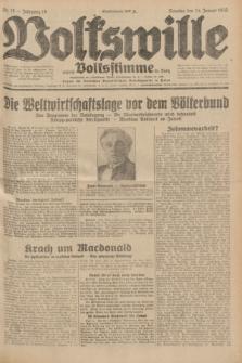 Volkswille : zugleich Volksstimme für Bielitz : Organ der Deutschen Sozialistischen Arbeitspartei in Polen. Jg.18, Nr. 19 (24 Januar 1932) + dod.