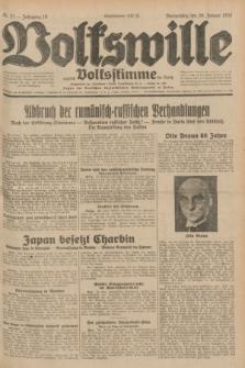 Volkswille : zugleich Volksstimme für Bielitz : Organ der Deutschen Sozialistischen Arbeitspartei in Polen. Jg.18, Nr. 22 (28 Januar 1932) + dod.
