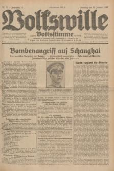 Volkswille : zugleich Volksstimme für Bielitz : Organ der Deutschen Sozialistischen Arbeitspartei in Polen. Jg.18, Nr. 25 (31 Januar 1932) + dod.