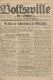 Volkswille : zugleich Volksstimme für Bielitz : Organ der Deutschen Sozialistischen Arbeitspartei in Polen. Jg.18, Nr. 27 (4 Februar 1932) + dod.