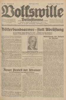 Volkswille : zugleich Volksstimme für Bielitz : Organ der Deutschen Sozialistischen Arbeitspartei in Polen. Jg.18, Nr. 30 (7 Februar 1932) + dod.