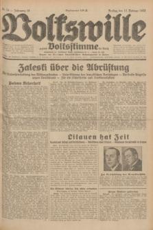 Volkswille : zugleich Volksstimme für Bielitz : Organ der Deutschen Sozialistischen Arbeitspartei in Polen. Jg.18, Nr. 34 (12 Februar 1932) + dod.