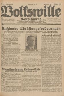 Volkswille : zugleich Volksstimme für Bielitz : Organ der Deutschen Sozialistischen Arbeitspartei in Polen. Jg.18, Nr. 35 (13 Februar 1932) + dod.
