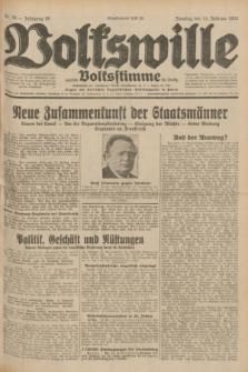 Volkswille : zugleich Volksstimme für Bielitz : Organ der Deutschen Sozialistischen Arbeitspartei in Polen. Jg.18, Nr. 36 (14 Februar 1932) + dod.