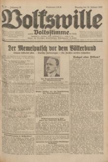 Volkswille : zugleich Volksstimme für Bielitz : Organ der Deutschen Sozialistischen Arbeitspartei in Polen. Jg.18, Nr. 37 (16 Februar 1932) + dod.