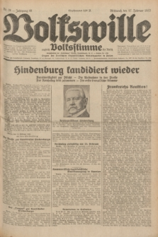 Volkswille : zugleich Volksstimme für Bielitz : Organ der Deutschen Sozialistischen Arbeitspartei in Polen. Jg.18, Nr. 38 (17 Februar 1932) + dod.