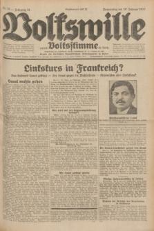 Volkswille : zugleich Volksstimme für Bielitz : Organ der Deutschen Sozialistischen Arbeitspartei in Polen. Jg.18, Nr. 39 (18 Februar 1932) + dod.