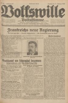 Volkswille : zugleich Volksstimme für Bielitz : Organ der Deutschen Sozialistischen Arbeitspartei in Polen. Jg.18, Nr. 42 (21 Februar 1932) + dod.