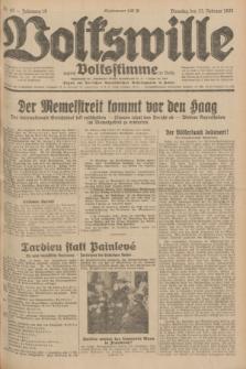 Volkswille : zugleich Volksstimme für Bielitz : Organ der Deutschen Sozialistischen Arbeitspartei in Polen. Jg.18, Nr. 43 (23 Februar 1932) + dod.