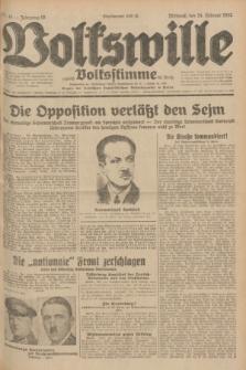 Volkswille : zugleich Volksstimme für Bielitz : Organ der Deutschen Sozialistischen Arbeitspartei in Polen. Jg.18, Nr. 44 (24 Februar 1932) + dod.