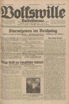 Volkswille : zugleich Volksstimme für Bielitz : Organ der Deutschen Sozialistischen Arbeitspartei in Polen. Jg.18, Nr. 45 (25 Februar 1932) + dod.