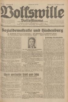 Volkswille : zugleich Volksstimme für Bielitz : Organ der Deutschen Sozialistischen Arbeitspartei in Polen. Jg.18, Nr. 46 (26 Februar 1932) + dod.