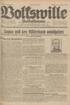 Volkswille : zugleich Volksstimme für Bielitz : Organ der Deutschen Sozialistischen Arbeitspartei in Polen. Jg.18, Nr. 49 (1 März 1932) + dod.
