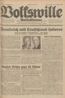 Volkswille : zugleich Volksstimme für Bielitz : Organ der Deutschen Sozialistischen Arbeitspartei in Polen. Jg.18, Nr. 59 (12 März 1932) + dod.