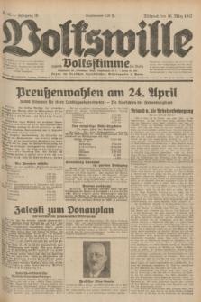 Volkswille : zugleich Volksstimme für Bielitz : Organ der Deutschen Sozialistischen Arbeitspartei in Polen. Jg.18, Nr. 62 (16 März 1932) + dod.
