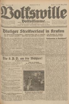 Volkswille : zugleich Volksstimme für Bielitz : Organ der Deutschen Sozialistischen Arbeitspartei in Polen. Jg.18, Nr. 64 (18 März 1932) + dod.