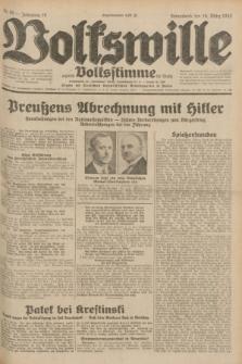 Volkswille : zugleich Volksstimme für Bielitz : Organ der Deutschen Sozialistischen Arbeitspartei in Polen. Jg.18, Nr. 65 (19 März 1932) + dod.