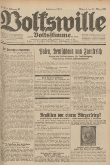 Volkswille : zugleich Volksstimme für Bielitz : Organ der Deutschen Sozialistischen Arbeitspartei in Polen. Jg.18, Nr. 68 (23 März 1932) + dod.