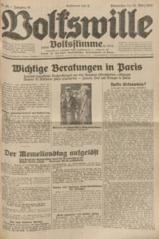 Volkswille : zugleich Volksstimme für Bielitz : Organ der Deutschen Sozialistischen Arbeitspartei in Polen. Jg.18, Nr. 69 (24 März 1932) + dod.