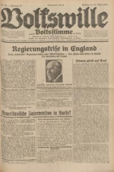 Volkswille : zugleich Volksstimme für Bielitz : Organ der Deutschen Sozialistischen Arbeitspartei in Polen. Jg.18, Nr. 70 (25 März 1932) + dod.