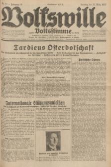 Volkswille : zugleich Volksstimme für Bielitz : Organ der Deutschen Sozialistischen Arbeitspartei in Polen. Jg.18, Nr. 72 (27 März 1932) + dod.