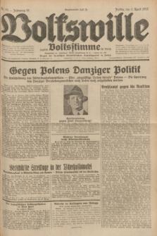 Volkswille : zugleich Volksstimme für Bielitz : Organ der Deutschen Sozialistischen Arbeitspartei in Polen. Jg.18, Nr. 75 (1 April 1932) + dod.