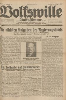 Volkswille : zugleich Volksstimme für Bielitz : Organ der Deutschen Sozialistischen Arbeitspartei in Polen. Jg.18, Nr. 77 (3 April 1932) + dod.
