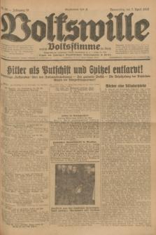 Volkswille : zugleich Volksstimme für Bielitz : Organ der Deutschen Sozialistischen Arbeitspartei in Polen. Jg.18, Nr. 80 (7 April 1932) + dod.