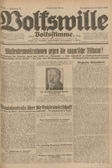 Volkswille : zugleich Volksstimme für Bielitz : Organ der Deutschen Sozialistischen Arbeitspartei in Polen. Jg.18, Nr. 82 (9 April 1932) + dod.