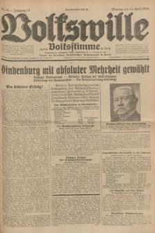 Volkswille : zugleich Volksstimme für Bielitz : Organ der Deutschen Sozialistischen Arbeitspartei in Polen. Jg.18, Nr. 84 (12 April 1932) + dod.